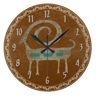 Petroglifo de las ovejas de Bighorn Reloj Redondo Grande