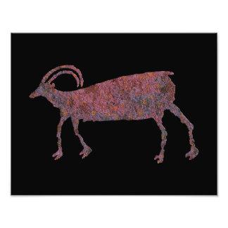 Petroglifo de las ovejas del Big Horn Cojinete