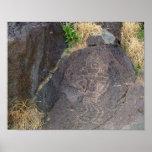 Petroglifo de un hombre poster