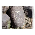 Petroglifo del pájaro felicitación