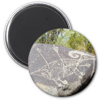 Petroglifo grande de las ovejas del cuerno imán de frigorifico