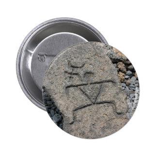Petroglifo hawaiano - botón