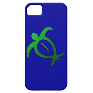 Petroglifo hawaiano de Honu en el azul - caso del  iPhone 5 Cobertura