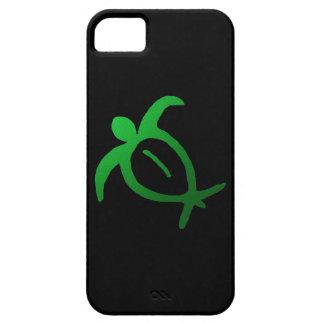 Petroglifo hawaiano de Honu en el negro - caso del iPhone 5 Case-Mate Cárcasa