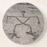 Petroglifo hawaiano retro - petroglifos del vintag posavasos personalizados