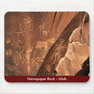 Petroglifos de la roca del periódico - Utah Alfombrillas De Raton
