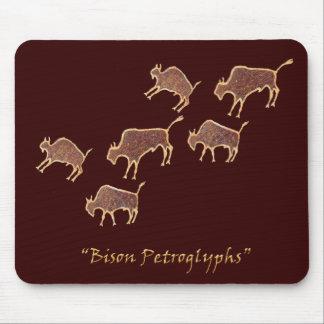 Petroglifos del bisonte alfombrilla de ratones