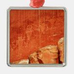 Petroglifos del filón del capitolio ornamento de navidad
