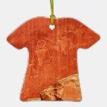 Petroglifos del filón del capitolio ornaments para arbol de navidad