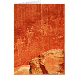 Petroglifos del filón del capitolio tarjeta de felicitación