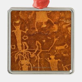 Petroglifos del nativo americano, el panel de ornamento para arbol de navidad
