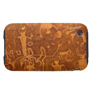 Petroglifos del nativo americano, el panel de funda though para iPhone 3