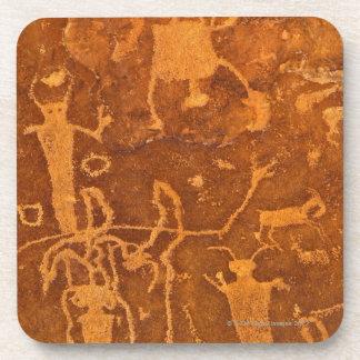 Petroglifos del nativo americano, el panel de Roch Posavasos