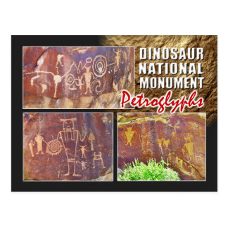 Petroglifos, monumento nacional del dinosaurio, postal