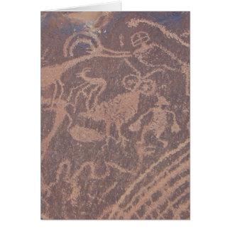 Petroglifos Tarjeta Pequeña