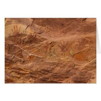 """Petroglifos, valle del fuego, Nevada """"manos """" Tarjeta De Felicitación"""