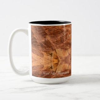 Petroglyph ancient hands mug