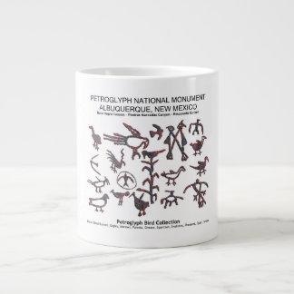 Petroglyph Bird Collection Large Coffee Mug