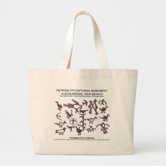 Petroglyph Bird Collection Large Tote Bag