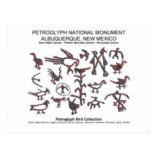 Petroglyph Bird Collection Post Card