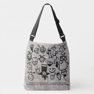 Petroglyph collection Masks and Heads Crossbody Bag
