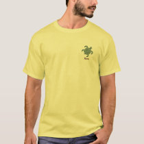 Petroglyph Hawaiian Green Sea Turtle T-Shirt