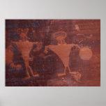 Petroglyph in Moab, Utah Print