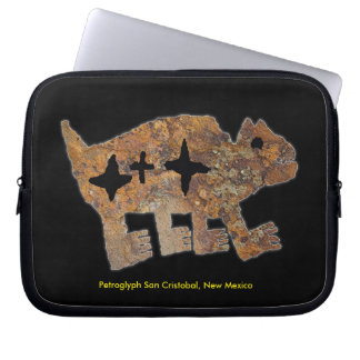 Petroglyph of a Bear and Three Stars Computer Sleeve
