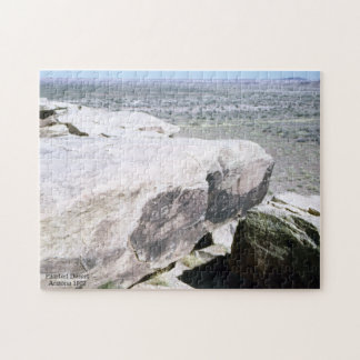 Petroglyph Painted Desert Arizona Vintage Inspired Jigsaw Puzzle