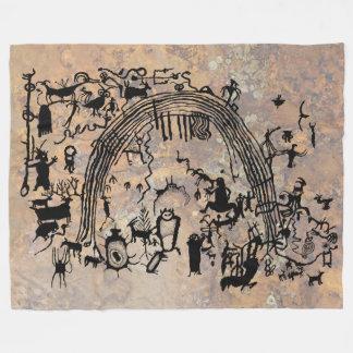 Petroglyph Panel Fleece Blanket