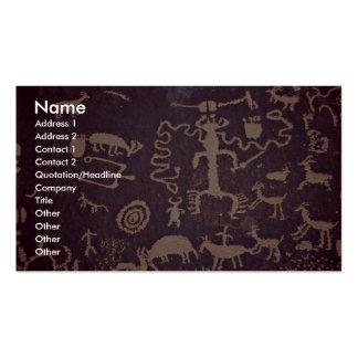 Petroglyphs, Newspaper Rock, Utah, U.S.A. Business Card