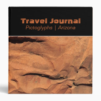 "Petroglyphs on Rock Walls 1.5"" Travel Binder"