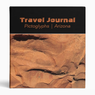 "Petroglyphs on Rock Walls 1"" Travel Journal Binder"