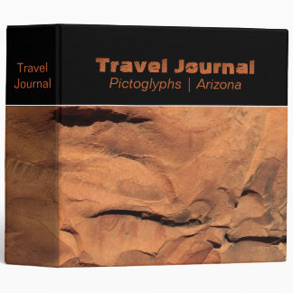 "Petroglyphs on Rock Walls 2"" Travel Journal Binder"