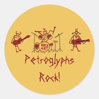 Petroglyphs Rock Band Stickers