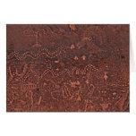 petroglyphscc largo del paisaje de las ovejas del  tarjetón