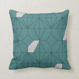 Petrol Blue Diamond Throw Pillow