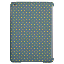 Petrol Blue/ Yellow Case Savvy Matte iPad Air Case