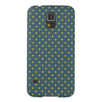 Petrol Blue/ Yellow Polka Dot Galaxy S5 Case