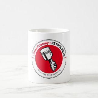 PETROL HEAD CUP CLASSIC WHITE COFFEE MUG