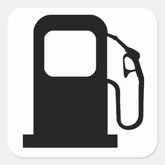 Petrol Pump Square Sticker