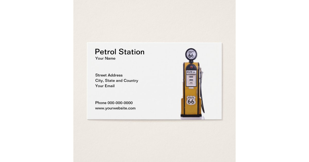 Gas Station Business Cards & Templates | Zazzle