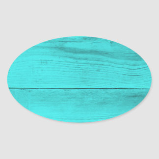 Petrol Wood Structure Oval Sticker