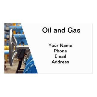 Petróleo y gas tarjetas de visita