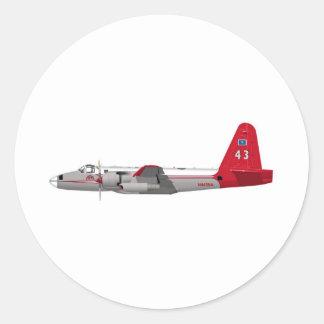 Petrolero de Lockheed P-2V Neptuno Pegatina Redonda