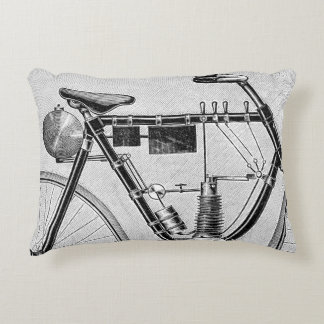 Petrolette Omega Motorcycle, 1895 Accent Pillow