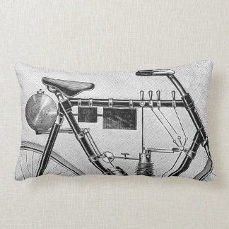 Petrolette Omega Motorcycle, 1895 Lumbar Pillow