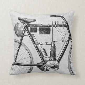 Petrolette Omega Motorcycle, 1895 Throw Pillow