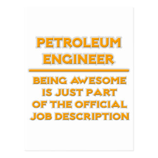 Petroleum Engineer .. Job Description Postcard