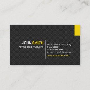 Petroleum Engineer Modern Twill Grid Business Card